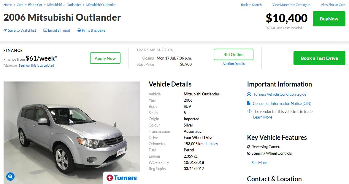 Car Auctions Online >> Turners Online Auction Buy Cars Online Online Auctions Turners